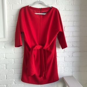 ASOS Red Evening Holiday cocktail Dress sz 8 large